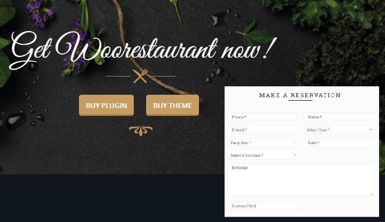 reserva restaurante plugin