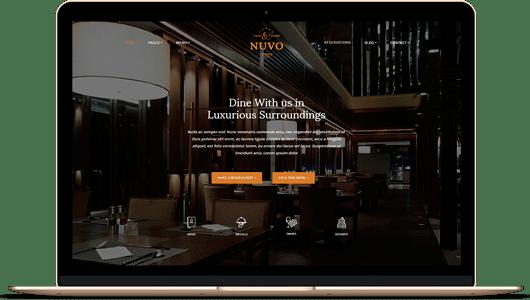 plantilla wordpress restaurante nuvo