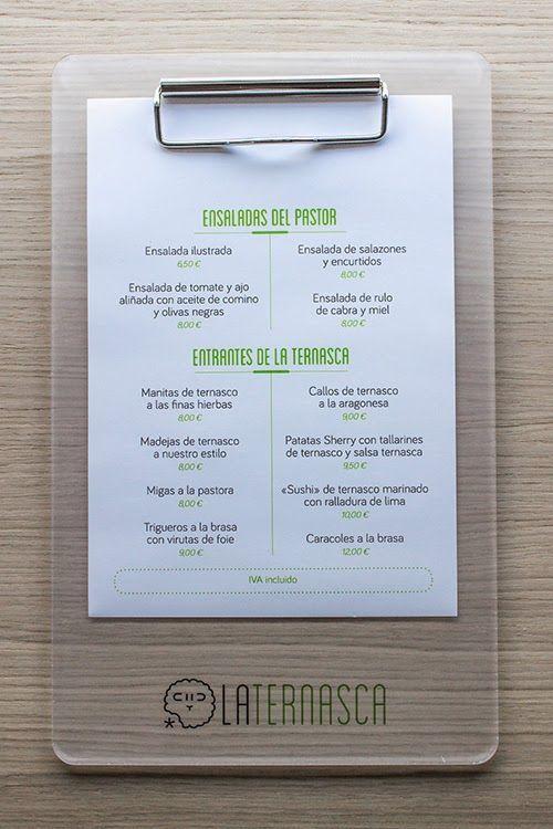 cartas de restaurantes