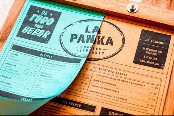 Diseño de la carta de un restaurante