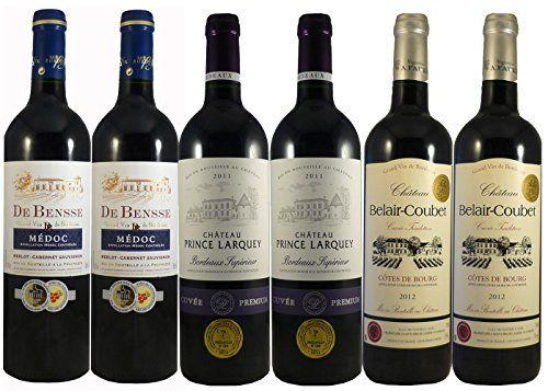 6 Grandes vinos tintos premiados de Burdeos - LE WINE CLUB (6x75cl)